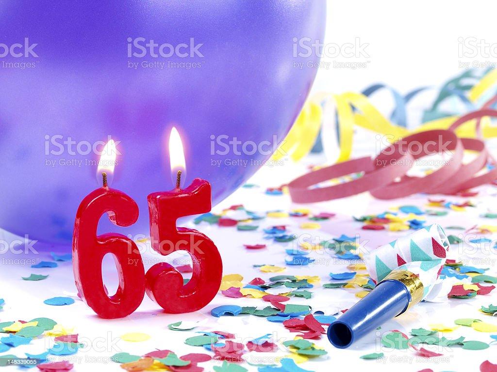 Birthday-anniversary Nr. 65. stock photo
