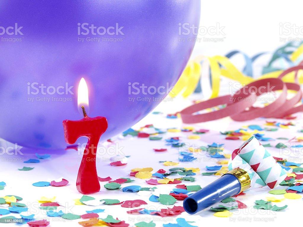 Birthday-anniversary Nr. 7 stock photo