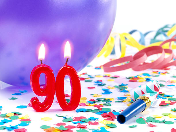 birthday-anniversary nr. 90 - number 90 stock photos and pictures