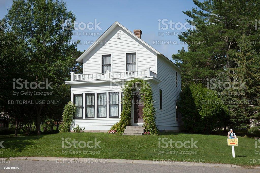 Birthplace of film actress Judy Garland in Grand Rapids, Minnesota stock photo