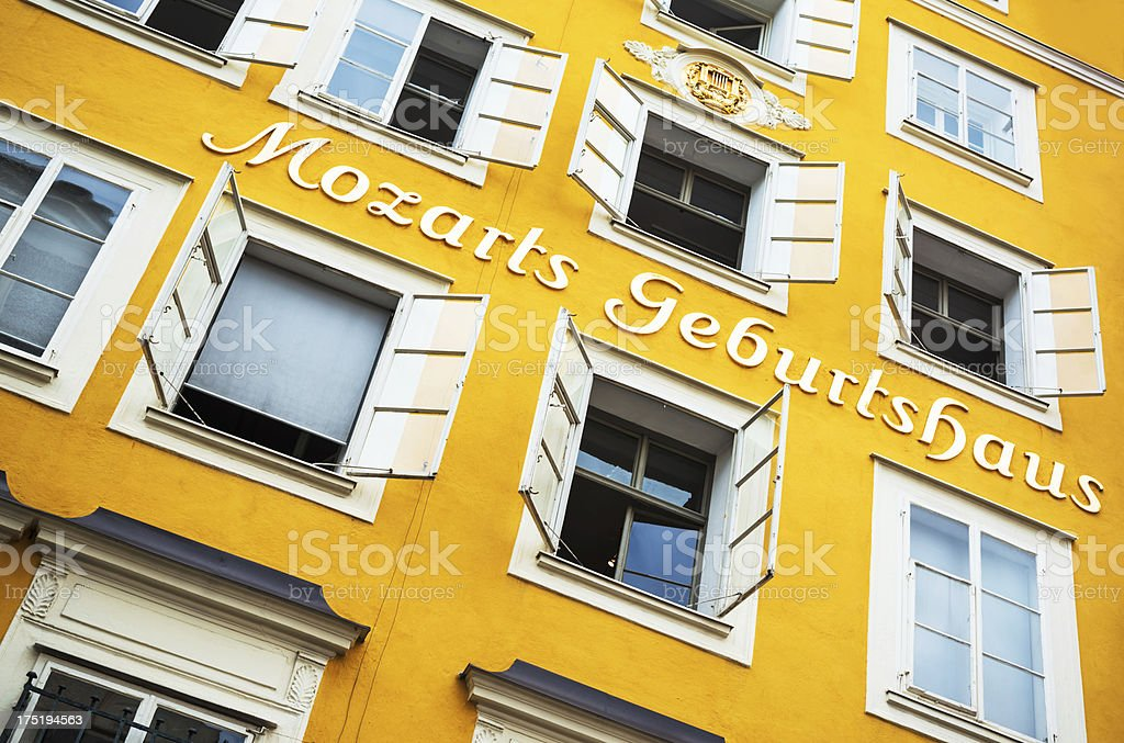 Birthplace of Mozart stock photo