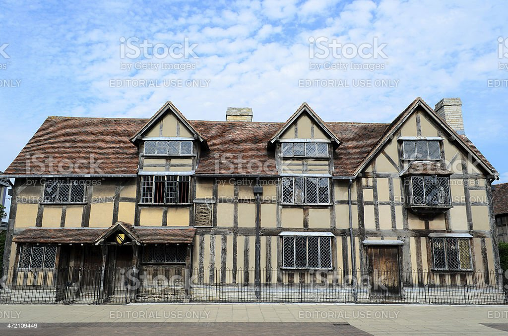 Birthplace of Shakespeare royalty-free stock photo