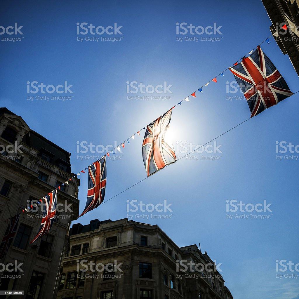 Birtish Flags stock photo
