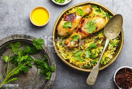 istock Biryani chicken with basmati rice 1137364719