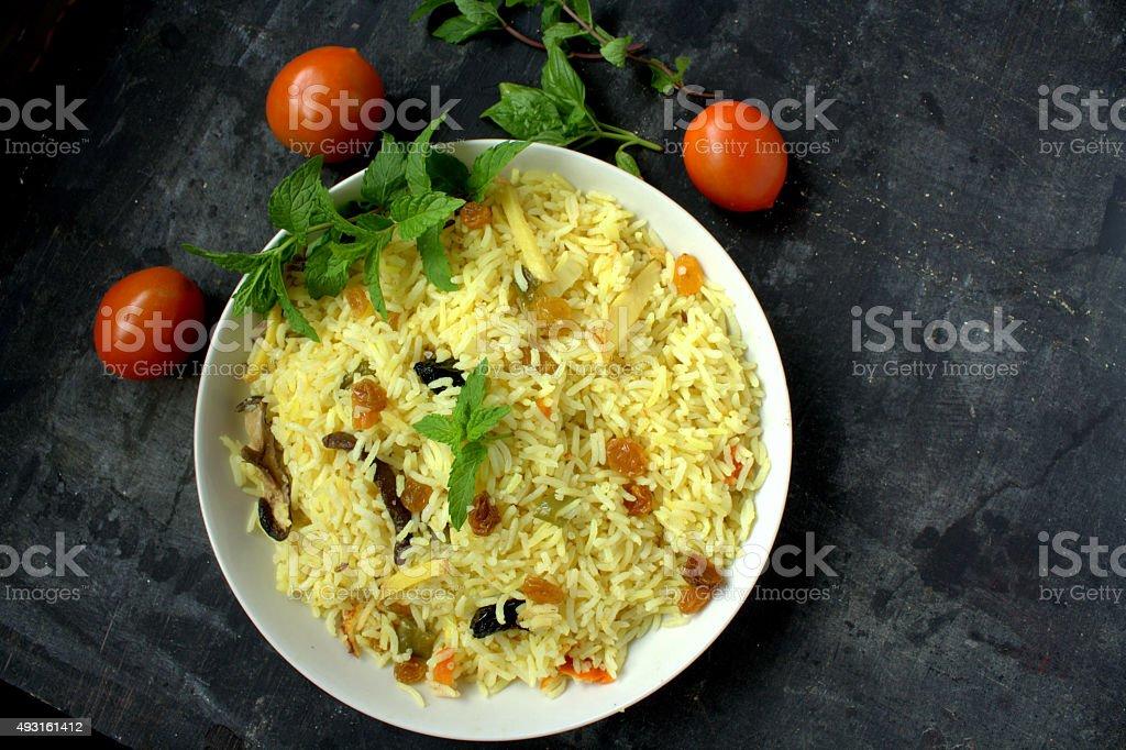 Biryani Rice stock photo