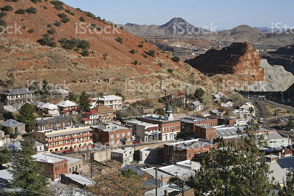 Bisbee Arizona And The Queen Copper Mine stock photo