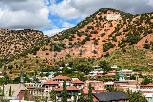 Historic mining town Bisbee, Arizona, in Cochise County