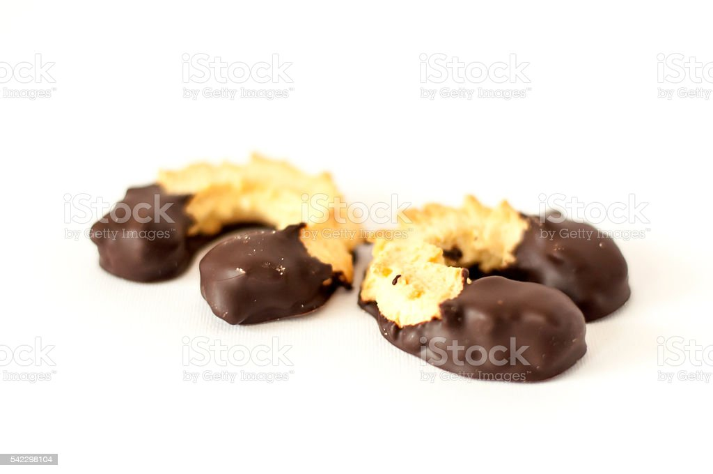 Biscotti al cioccolato stock photo