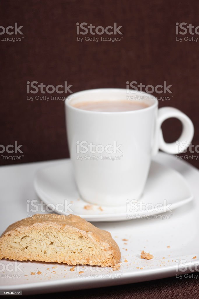 Biscotti and Cocoa royalty-free stock photo