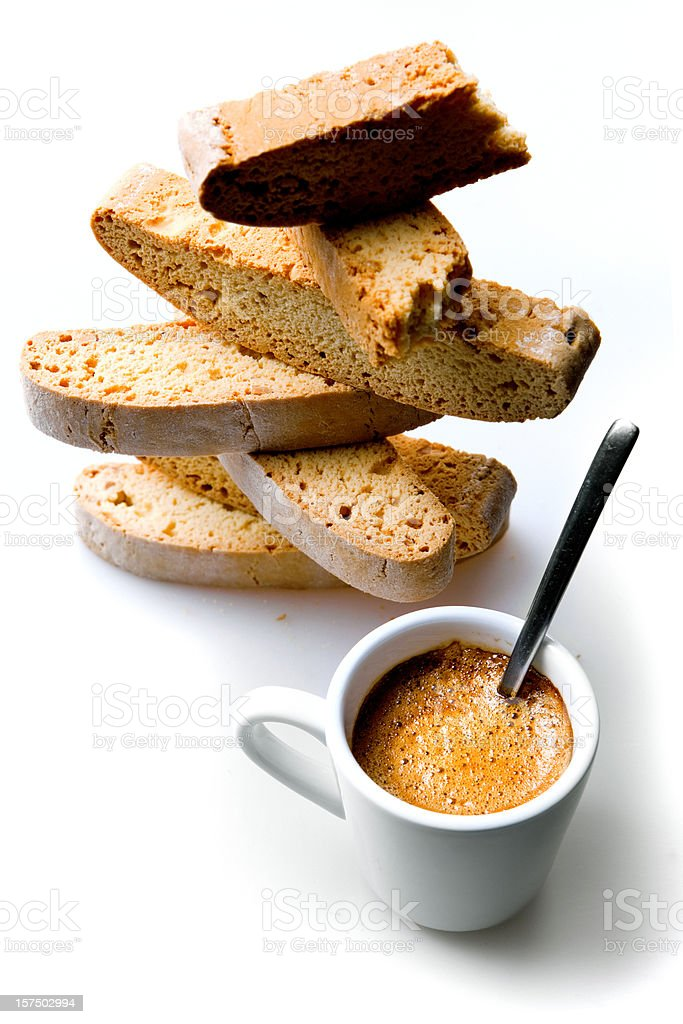 biscotti and coffee royalty-free stock photo
