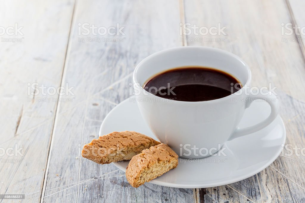 Biscotti and Coffee stock photo