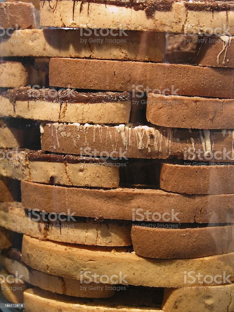 Biscotti behind glass royalty-free stock photo