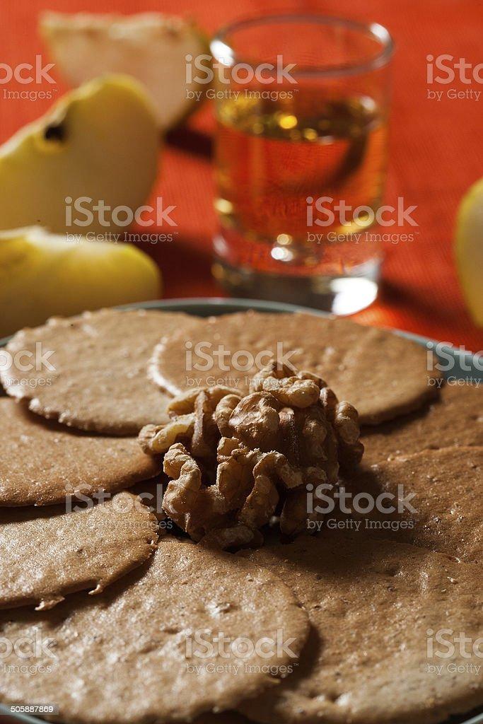 biscotti e vino passito royalty-free stock photo
