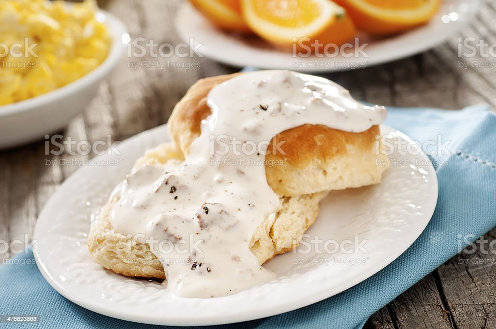 Biscuit and Gravy stock photo