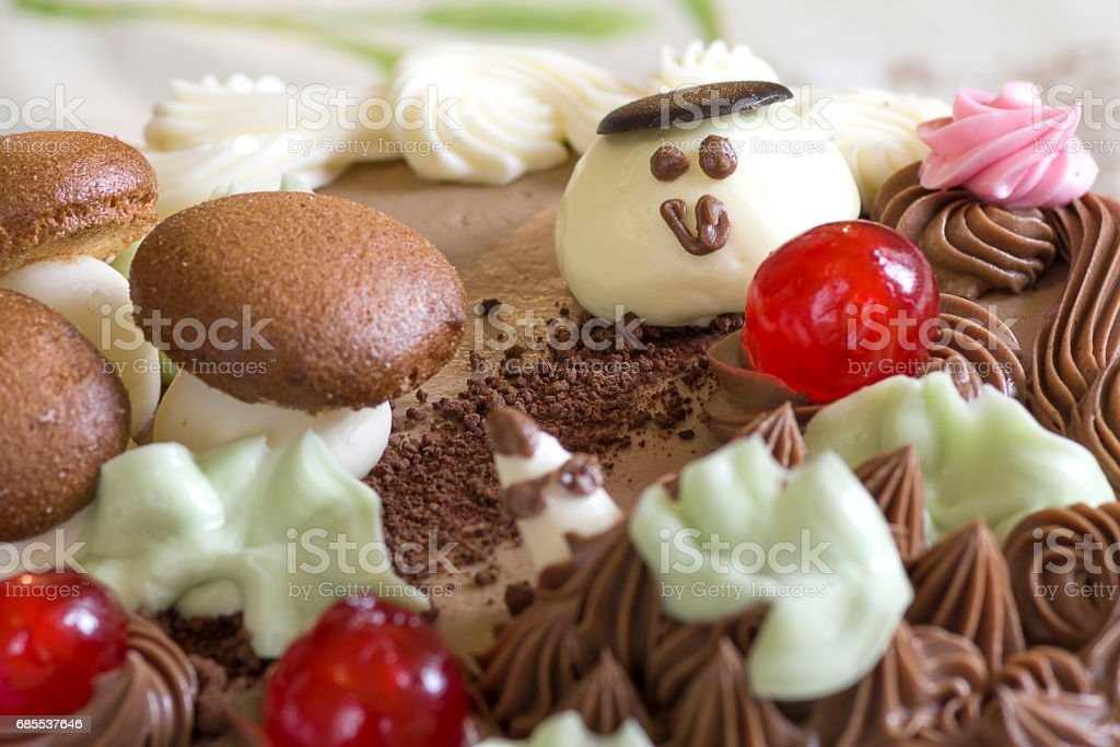 Biscuit cream cake 免版稅 stock photo