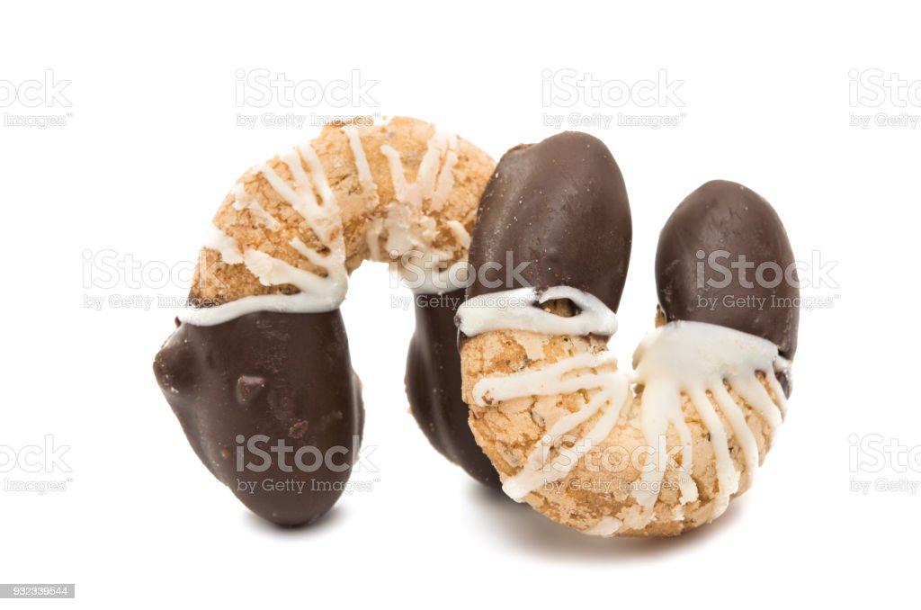 biscuit horseshoe isolated stock photo