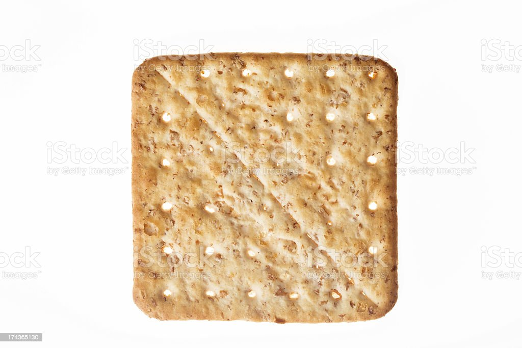 Biscuit isolated on white royalty-free stock photo