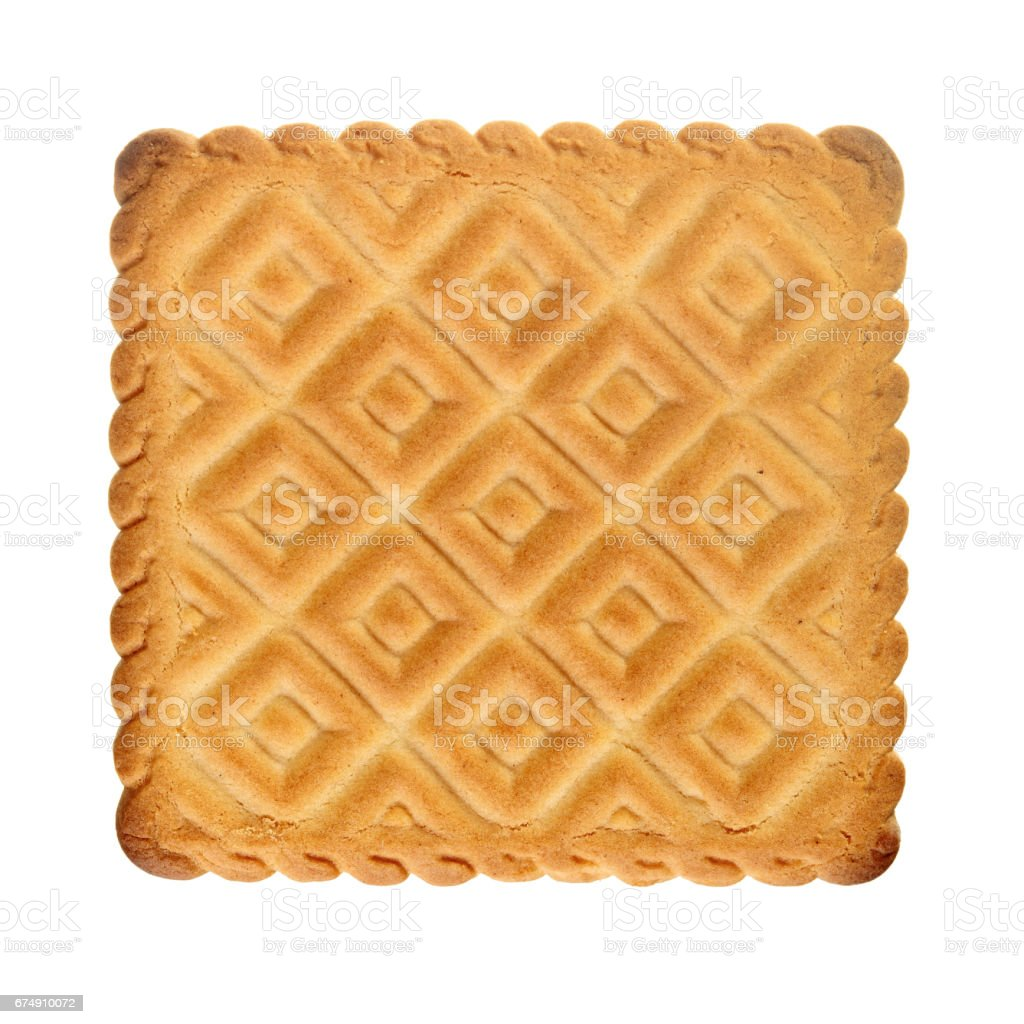 Biscuit isolated over white royalty-free stock photo