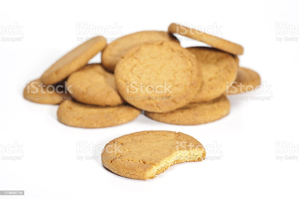 Biscuit pile stock photo