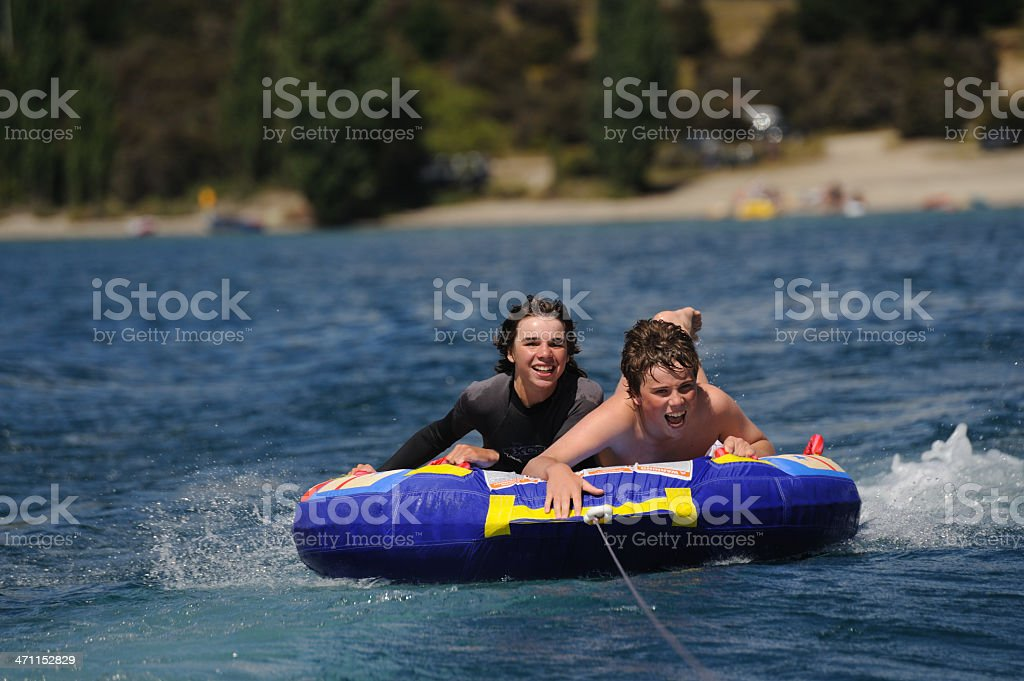 Biscuiting on the lake royalty-free stock photo