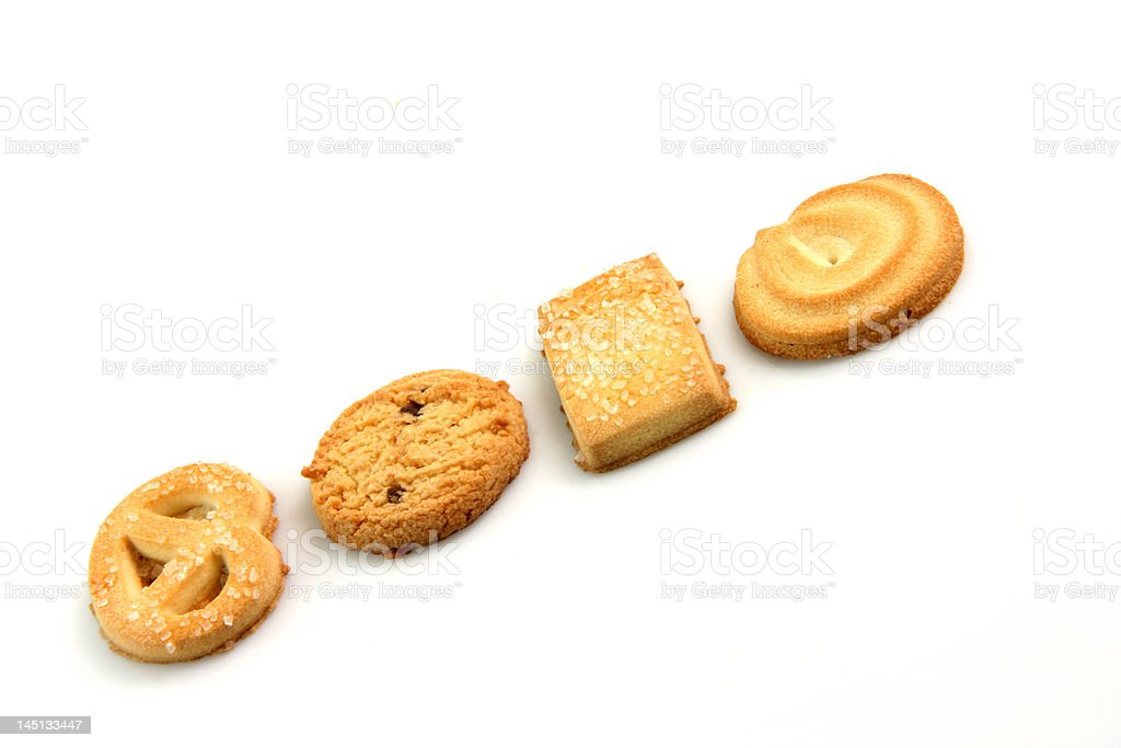 biscuits in row royalty-free stock photo