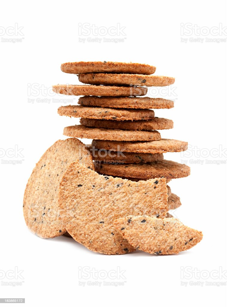 Biscuits isolated on white background royalty-free stock photo