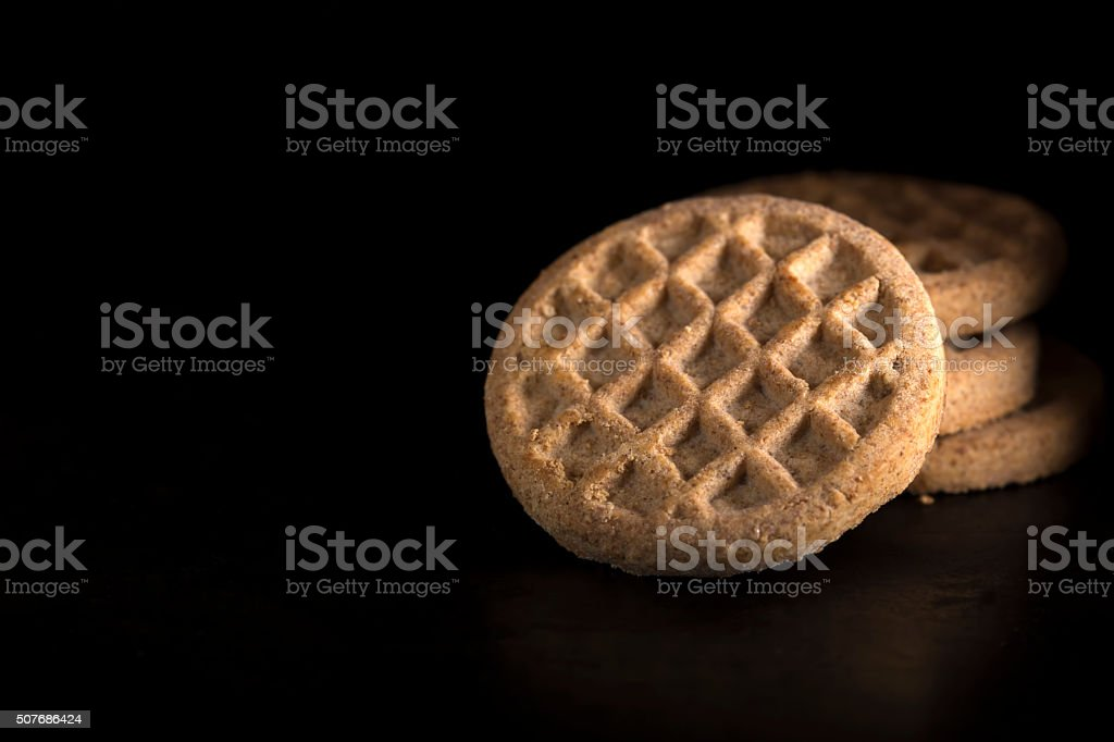 Biscuits made with cinnamon stock photo