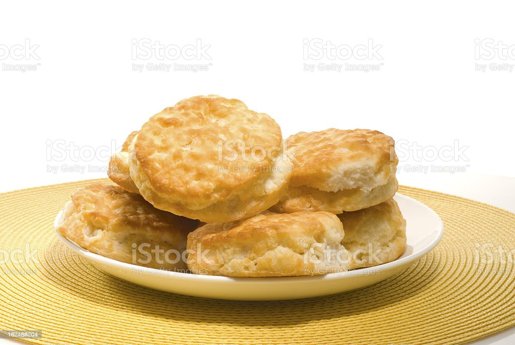 biscuits on a plate royalty-free stock photo