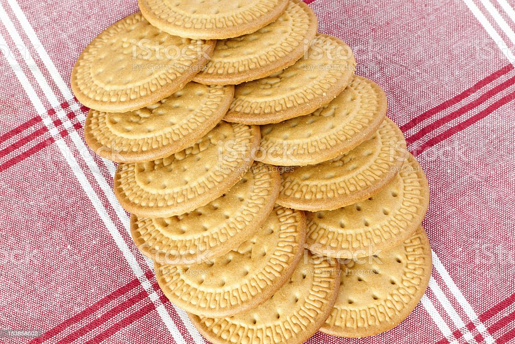 Biscuits on a tablecloth royalty-free stock photo