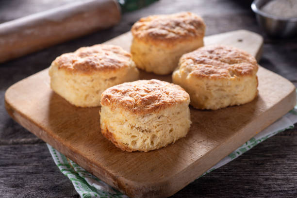 Biscuits Homemade Southern Buttermilk Biscuits biscuit stock pictures, royalty-free photos & images