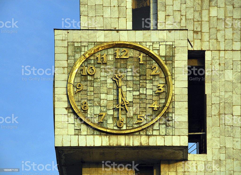 Bishkek, Kyrgyzstan: marble clad clock tower stock photo