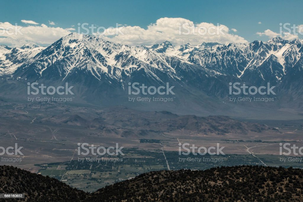 Bishop and Sierra Nevada Mountains stock photo