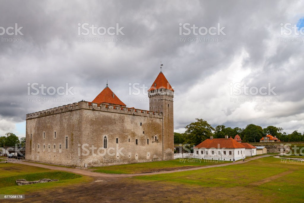 Bishop Castle in Kuressaare on Saaremaa Island, Estonia, Europe stock photo