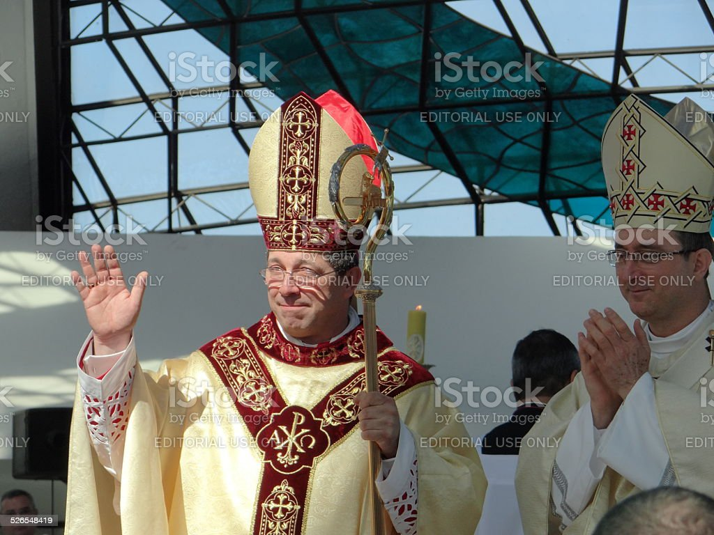 Bishop ordination rite stock photo