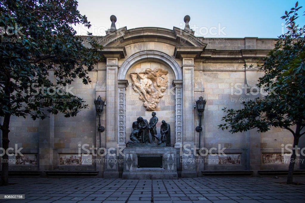 Bishop palace - Palau Episcopal de Barcelona stock photo