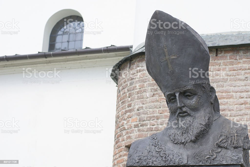 Bishop sculpture stock photo