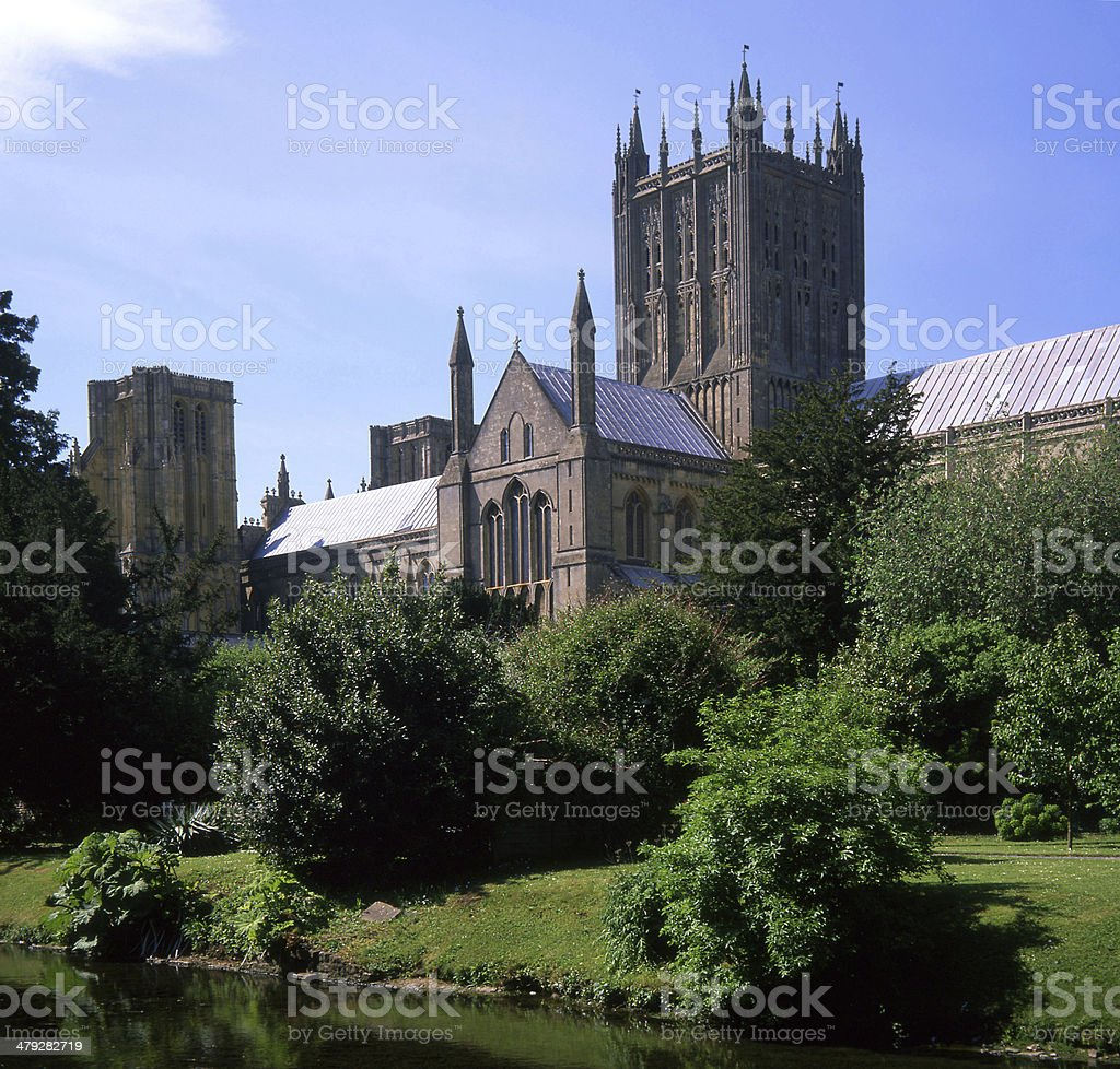 Bishops Palace in Wells Somerset stock photo