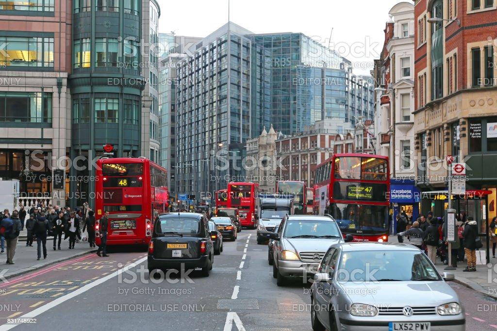 Bishopsgate Street London stock photo