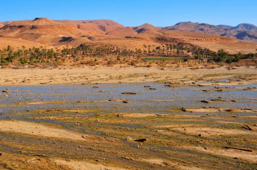 Hoggar rocks in the northern Sahara desert