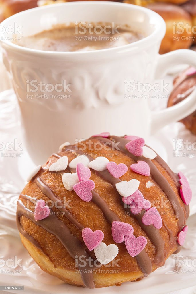 bismarck doughnuts on a plate royalty-free stock photo
