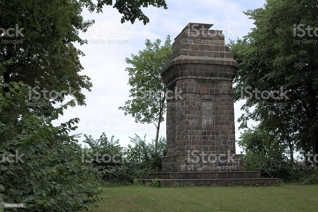 Bismarck tower or Bismarck Column in Greifswald, Germany royalty-free stock photo