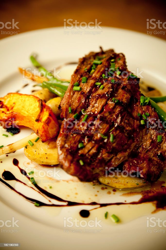 Bison flank steak royalty-free stock photo