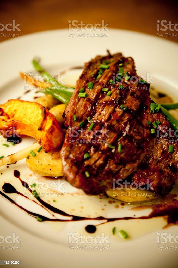 Bison flank steak stock photo