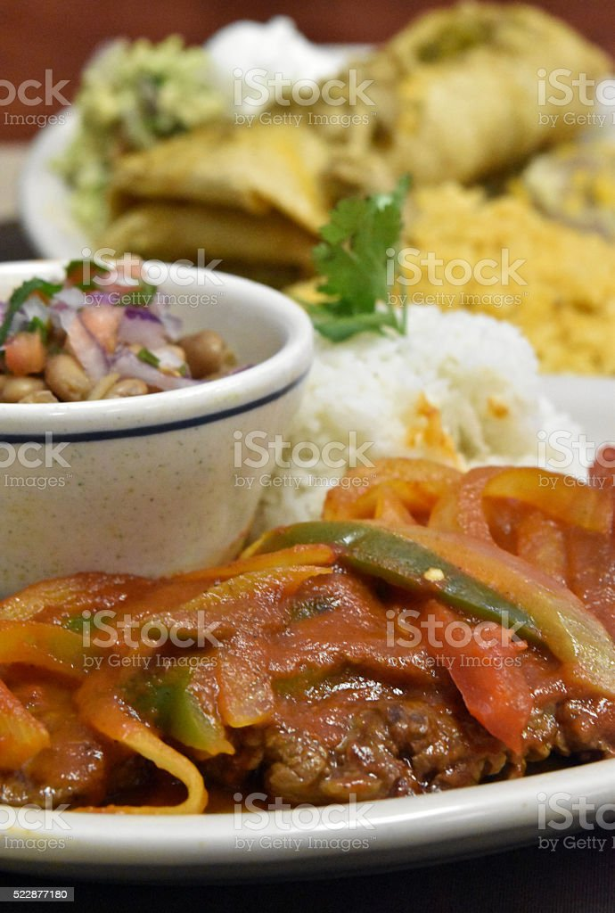 Bistec Ranchero Meal stock photo