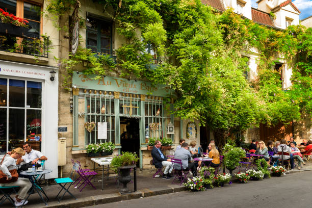 Bistrot the old Paris in France stock photo