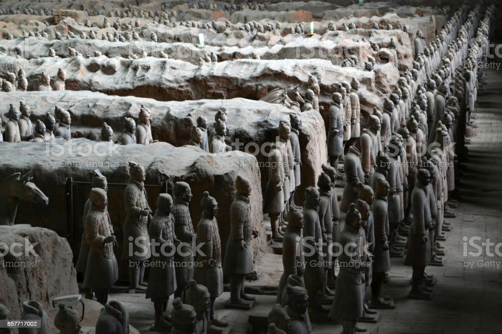 A bit closer to the Terracota Army stock photo