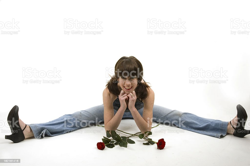 bit of a stretch royalty-free stock photo