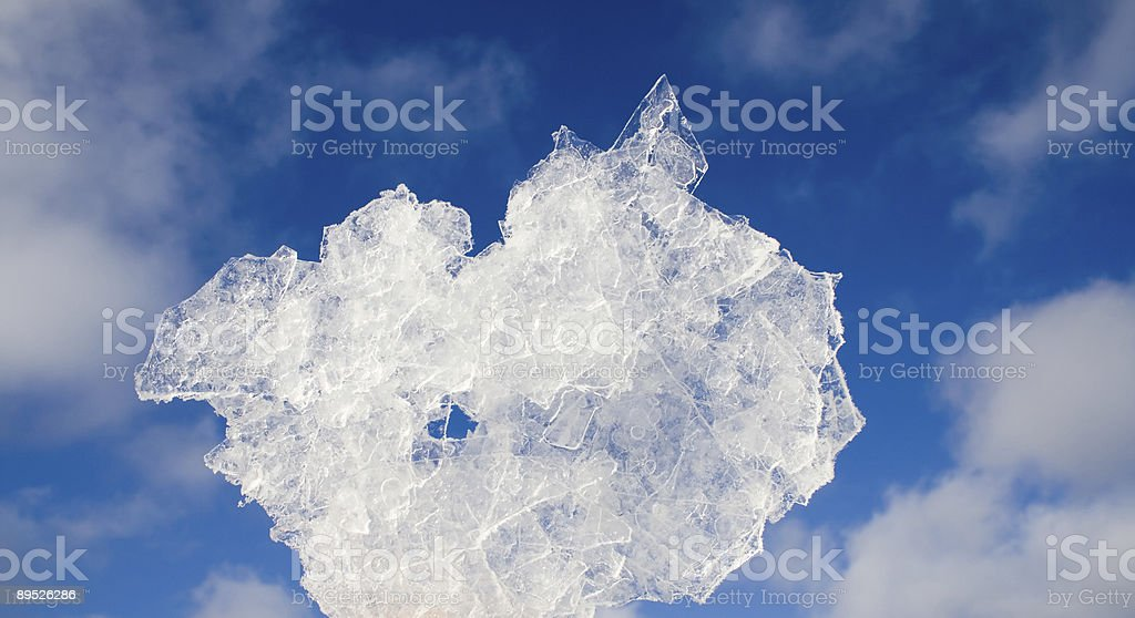 bit of ice on blurred sky background royalty-free stock photo