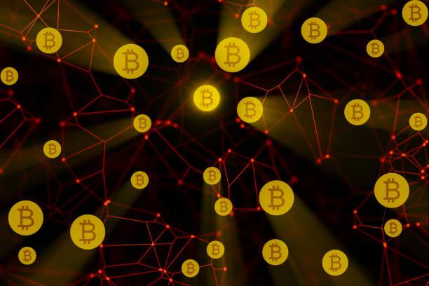 Blockchain de Bitcoin - foto de stock