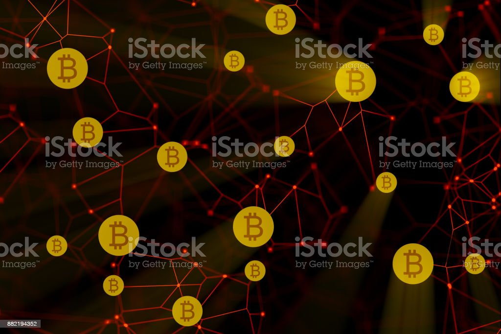 Bitcoin blockchain stock photo